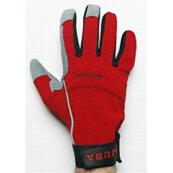 Gant cuir synthétique avec Spandex®. Fermeture à velcro.