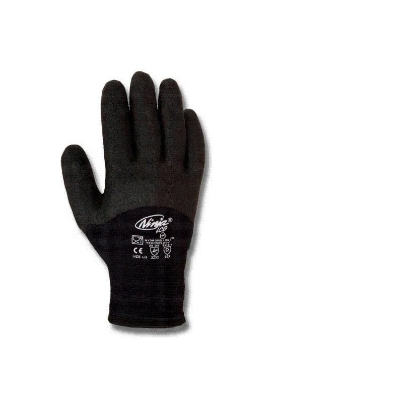 "Gant ""Ninja Ice"" id NI 00, acvec 1/2 dos enduit  PVC HPT noir. NI10"