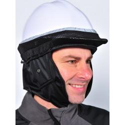 Coiffe de protection contre le froid pour casque de chantier